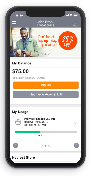 AwareX platform balance shown on a phone screen